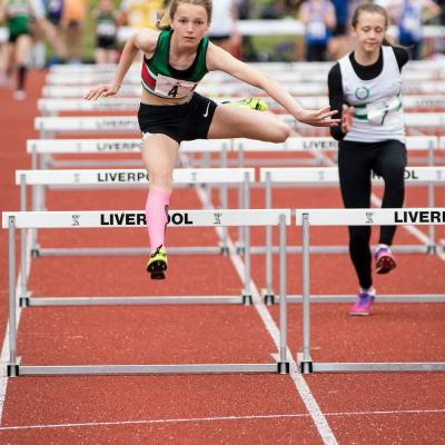 Thea Brown U13g Hurdles